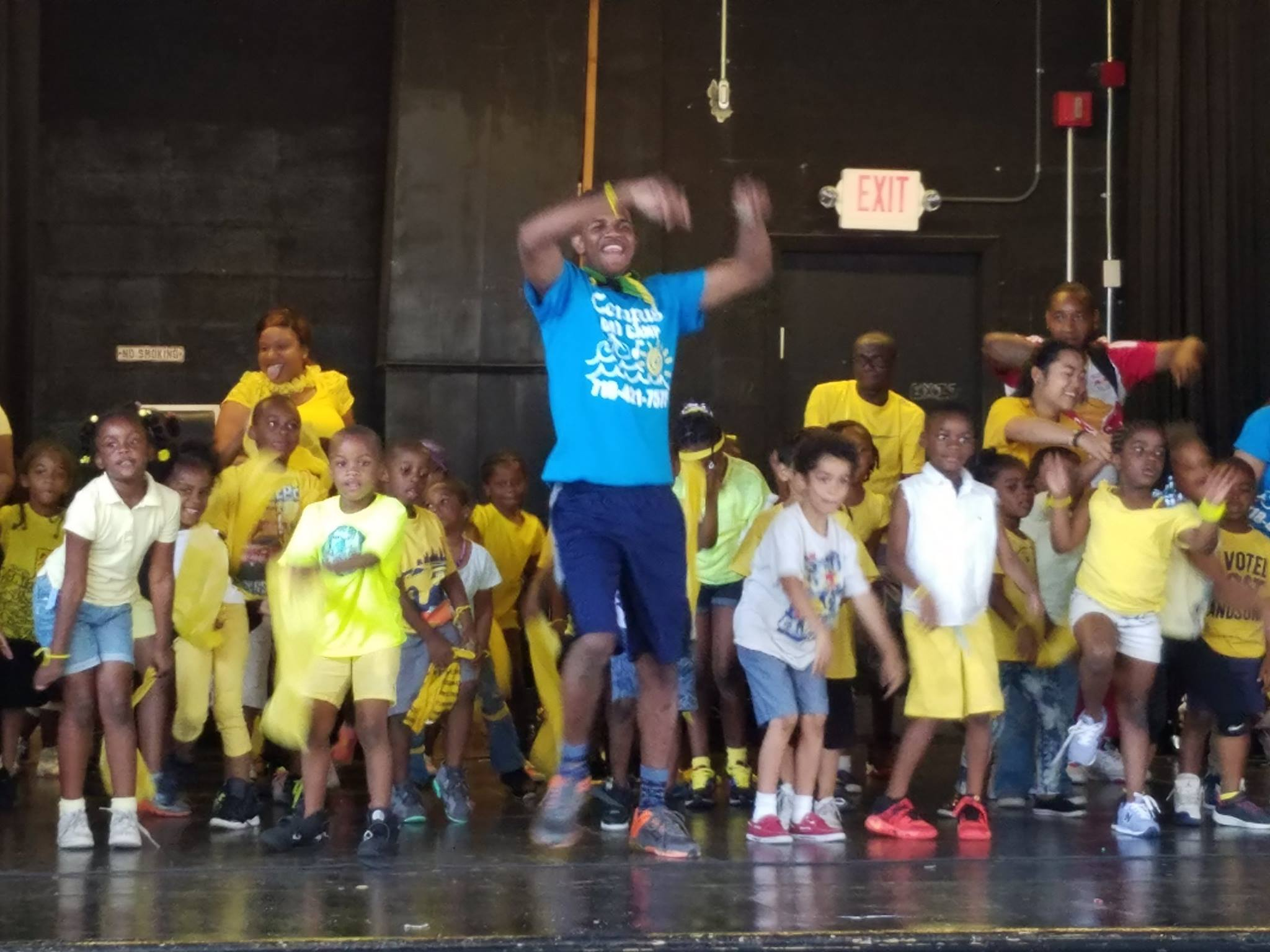 Brooklyn After School Program - Staff and Children Dancing at Campus
