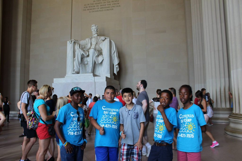 Campus Day Camp After School Program Special Trip to Lincoln Memorial